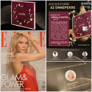 2019. december. ELLE magazin Babor Ampulla naptár ajánlás